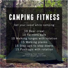 Enjoying the great outdoors? Make sure you try this camping inspired Weekend Workout!