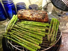 Here is Beth K's delicious pork tenderloin, roasted using her NuWave Oven Pro. She seasoned the tenderloin with olive oil and a dry rub, then roasted it in her NuWave. Then, she added the asparagus during the last 5-6 minutes of the cooking process. Beth tells us that the pork was incredibly juicy and her husband said that the asparagus was the best he's ever had.