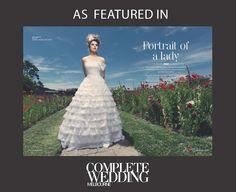 #KerryArmatas @empireroom #romance #Victorian #fullskirt #bow #floral  silk headpiece  by www.empireroom.com.au