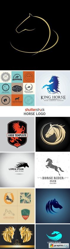 Stock Vector - Horse Logo 25 EPS in Original Filenames | + JPEG Preview | 20 Mb RAR