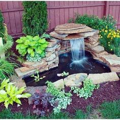 50 Diy Garden Pond Waterfall Ideas is part of Fountains backyard - Whether you choose a traditional sunken pool to enhance your garden, or want to relax to the gentle sound of […] Backyard Water Feature, Ponds Backyard, Backyard Patio, Backyard Waterfalls, Ponds With Waterfalls, Patio Pond, Diy Water Feature, Diy Garden Fountains, Diy Fountain