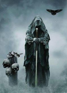 Dark Fantasy is the Best Fantasy Don't Fear The Reaper, Grim Reaper Art, Grim Reaper Tattoo, Death Reaper, Dark Fantasy Art, Fantasy Artwork, Fantasy World, Dark Art, Dark Gothic
