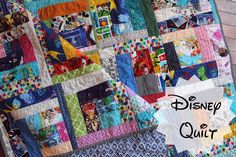 Disney Quilt!! How many character can you find?! @whitsrunningstitch