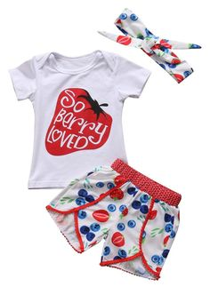 So Berry Loved Toddler Girl Summer Outfit