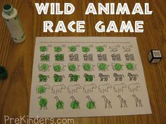 Two games for kindergarten-early elementary. Use with Apologia Zoologyb3, Land Animals #homeschool