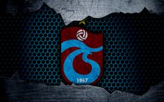 Download wallpapers Trabzonspor, 4k, logo, Super Lig, soccer, football club, grunge, Trabzonspor FC, art, metal texture