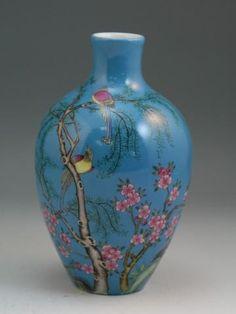 Chinese Qing Dynasty Famille Rose Enameled Porcelain Vase