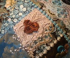 <3 this! crazy quilting embroidery.......