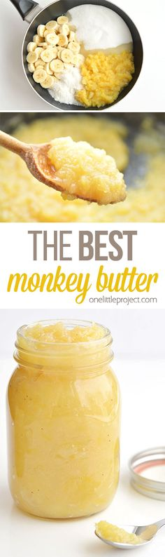 This monkey butter is SO GOOD! I was eating it by the spoonful. It tastes amazing on ice cream, or you can serve it with pancakes, waffles or even spread it on toast or english muffins. Jelly Recipes, Jam Recipes, Canning Recipes, Jam And Jelly, Butter Recipe, Savoury Cake, Mini Cakes, Original Recipe, Clean Eating Snacks