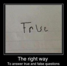 Porque é que eu não faço isto nos testes?
