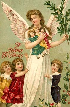Christmas angel with children