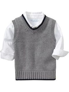 A baby boy sweater vest! Andrew is going to be a dapper young man. :)