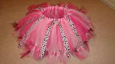 How to make your own tutu with ribbon and tied ends to make it look neater and less fly away