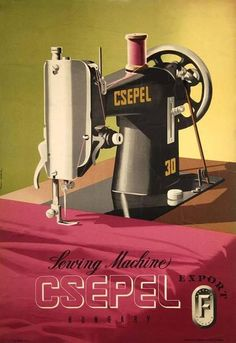 Csepel sewing machine!!!!! Imádom!!! :)