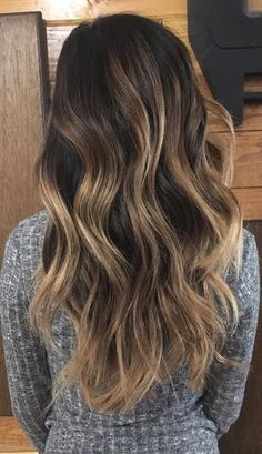 Dark roast coffee tones with a little half & half to enlighten things up. Color by Jessica Monkarsh.  Filed under: Hair Color, Hair Styles, Hair Stylists Tagged: balayage, beauty, brunette, hair, hair