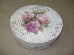 Decoupage Vintage, Decoupage Box, Bottle Box, Altered Boxes, Flower Fairies, Mdf Wood, Painting On Wood, Tole Painting, Trinket Boxes