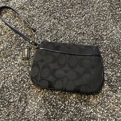 Black coach wristlet NWOT has zippered pocket and outside pocket no stains or damage open to reasonable offers Coach Bags Clutches & Wristlets
