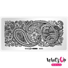 Create stunning nail art with paisley patterns filled with flowers, leaves, stars, swirls, and other cool designs with this beautiful stamping plate.