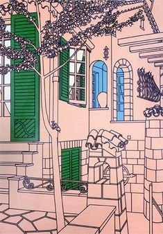 Patrick Caulfield, Springtime: Create your own Observation line drawings and develop colored areas. AO2/3.