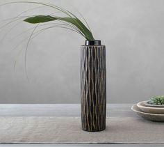 """Mila Ceramic Vase, back up option- shorter- $39, 3.5""""Diameter, 13.5""""H"""