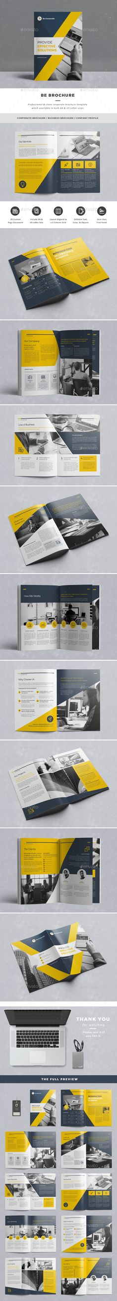 Be Brochure Template InDesign INDD. Download here: http://graphicriver.net/item/be-brochure/15667624?ref=ksioks                                                                                                                                                                                 More