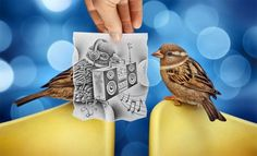 Incredible Collection of 'Pencil Vs. Camera' Art By Ben Heine  Ben Heine is the pioneering genius behind the 'Pencil vs Camera' photography.we have   assembled 40 splendid examples of his works.
