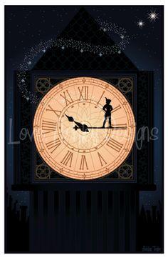 loveashleydesigns: Peter Pan illustration I Disney Peter Pan, Peter Pan 3, Walt Disney, Disney Magic, Disney Dream, Disney Love, Disney Stuff, Disney And Dreamworks, Disney Pixar
