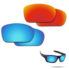 01db4d3b531 Fiskr Anti-saltwater Polarized Replacement Lenses for Oakley Turbine 2  Pairs Pack Review Replacement Lenses