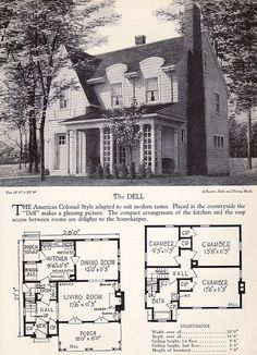 1928 Home Builders Catalog - The Dell             2     1        Newer Older  From the collection of Antique Home & Style.