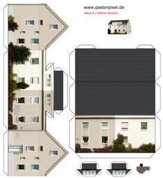 Cut-out sheet of house