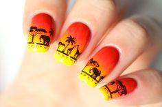Nail art Disney : le Roi Lion (Lion King Nail art)