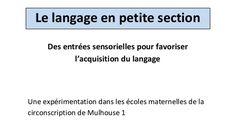 Le langage en petite section dossier.pdf