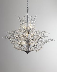 Upside Down 18 Light Crystal Chandelier at Horchow. Mini Chandelier, Chandelier Lighting, Crystal Chandeliers, Pendant Lights, Closet Chandelier, Lantern Lighting, Chandelier Makeover, Chandelier Crystals, Antique Chandelier