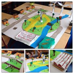 Maquette van een stad, energie opwekken in de toekomst. Groep 7 Motion Video, Stop Motion, School Projects, House, Atelier, Home, Homes, Houses