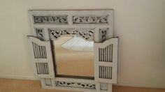 beautiful antique white washed furniture | Shabby Chic/White wash Solid Mahogany Prison Mirror Middle Park ...