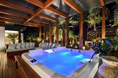 Spa Interior, Jacuzzi Outdoor, Outdoor Spa, Backyard Pool Designs, Small Backyard Pools, Home Spa Room, Jacuzzi Room, Two Story House Design, Rooftop Terrace Design