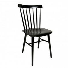 Stuhl Nummer 35, schwarz lackiert, Buche (nur im Doppelpack)