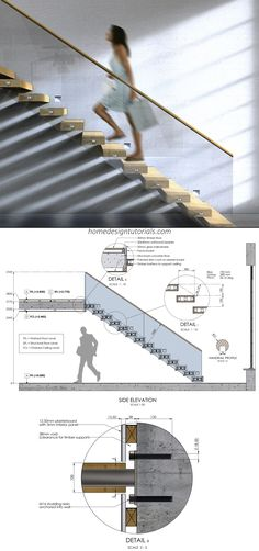 Cantilevered Staircase Design Tutorial Staircases are a lot of fun. That is, even though the design process is strictly regulated Building Stairs, Building Code, Stairs Architecture, Architecture Details, Interior Architecture, Staircase Design Modern, Interior Stairs Design, Steel Stairs Design, Interior Staircase