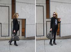 Top & Bag: Marc by Marc Jacobs // Jeans: J Brand // Coat: Zara // Shoes: Cheap Monday //