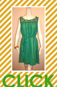 green with envy garden dress...