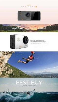 MGCOOL Explorer ES 3K Action Camera Allwinner V3 Sport DV Cam 170 Degree Wide Angle