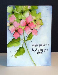 40-469 Hydrangea et 30-353 Words of kindness de Penny Black par Micheline 'Mimi' Jourdain