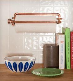 Industrial Copper Paper Towel Holder