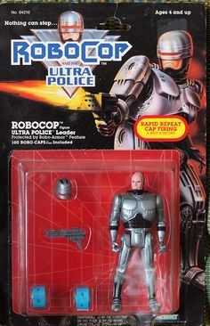 Robocop & The Ulrta Police Figure! These toys were made by Kenner from 1989 through 1990