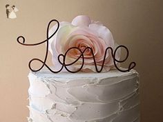 LOVE Oxidized Copper Wedding Cake Topper, Wedding Cake Decoration, Anniversary Cake Topper, Engagement Part Cake Topper, by AntoArts - Venue and reception decor (*Amazon Partner-Link)