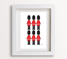 London Guard Toy Soilder Print 8x10 Babies Room by sandybanner