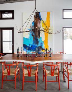 branch chandelier #diningroom