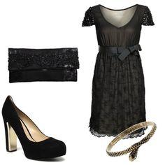 Vestido negro de coctel de Privée