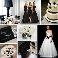 Siyah & Beyaz temalı düğün