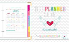 { Con descarga de Enero para que puedas probarlo. } The Planner 2015 Disponible. Este 2015 Planificador diario incluye más de 400 páginas digitales imprimibles con calendarios en varias opciones y mucho más.